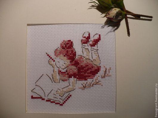 Шитье ручной работы. Ярмарка Мастеров - ручная работа. Купить Девочка с книгой №2 - вышивка крестом. Handmade. Французский дизайн