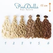 Материалы для творчества handmade. Livemaster - original item Doll Wefts. Hair wave Wefts for dolls 15 cm. Handmade.