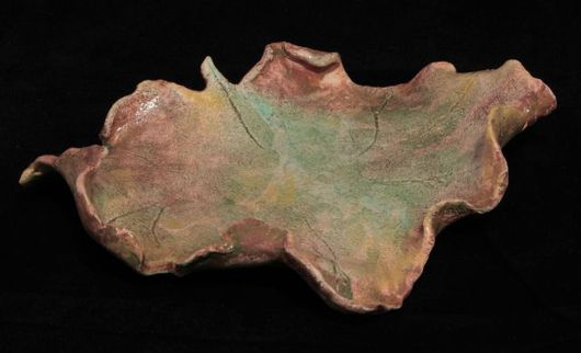 Декоративная посуда ручной работы. Ярмарка Мастеров - ручная работа. Купить Кленовый лист. Handmade. Комбинированный, тарелочка, листок, лист
