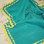 Работы для детей, handmade. Livemaster - original item baby blankets: Plaid soft baby yarn. Handmade.