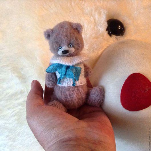 Мишки Тедди ручной работы. Ярмарка Мастеров - ручная работа. Купить Мишка Зефирка. Handmade. Бледно-сиреневый, Вязание крючком