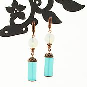 Украшения handmade. Livemaster - original item Classic Blue ice Earrings with natural Aqua quartz. Handmade.