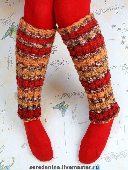 Носки, Чулки ручной работы. Ярмарка Мастеров - ручная работа. Купить Гетры. Handmade. Вязаные гетры