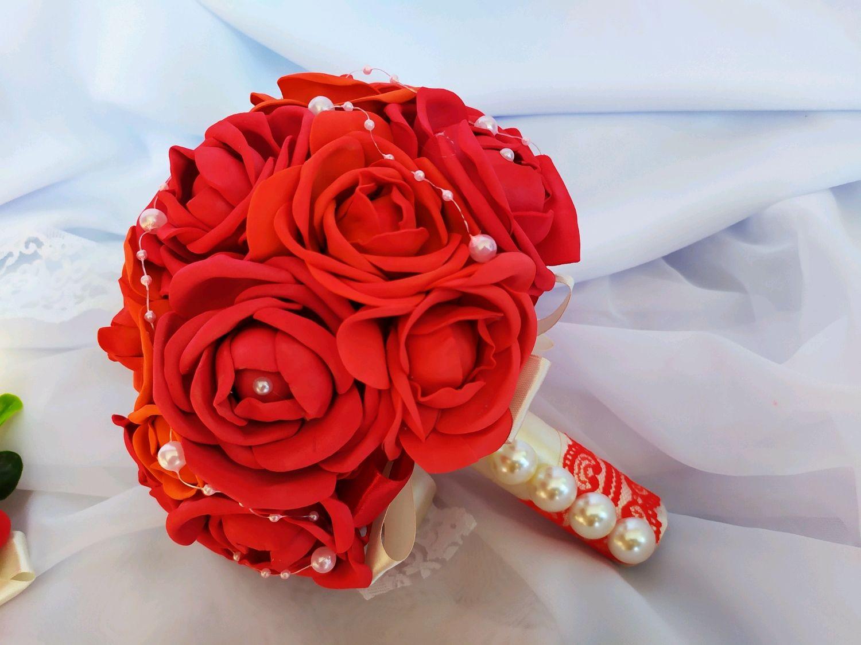 """Свадебный брошь-букет """"Красный шик"""", Свадебные букеты, Сочи, Фото №1"""