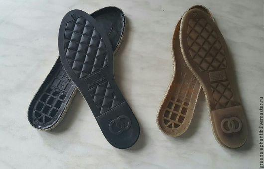 Подошва `Эспадрильи` для легкой обуви арт.1 черная  арт.2 креп