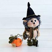 Куклы и игрушки handmade. Livemaster - original item Knitted toy hedgehog with pumpkin. Handmade.