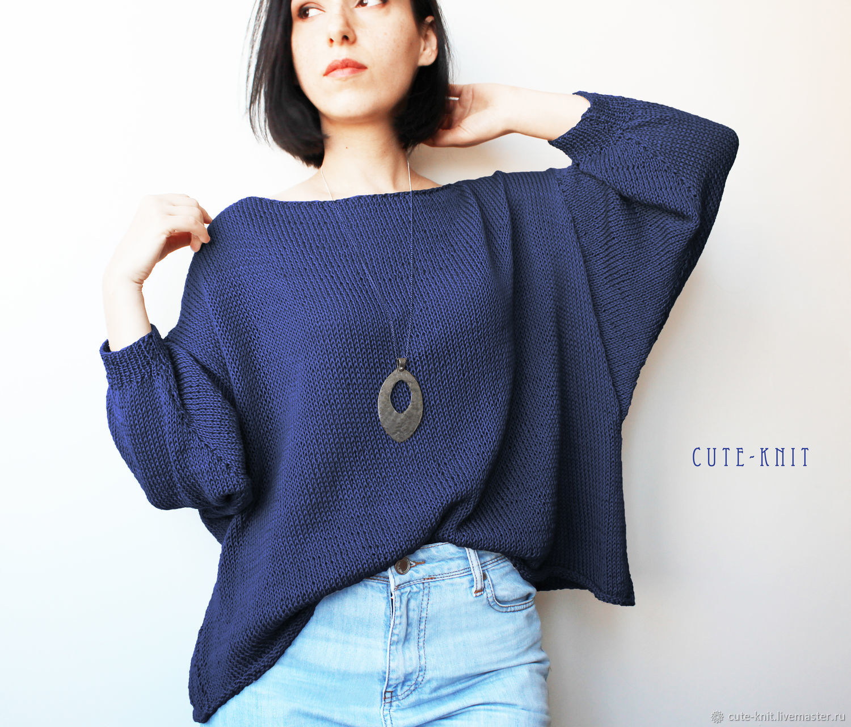 Sweatshirts: women's jumper blue, Sweater Jackets, Yerevan,  Фото №1