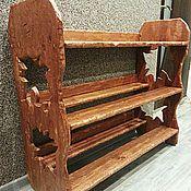 Для дома и интерьера ручной работы. Ярмарка Мастеров - ручная работа Обувница из массива дерева. Handmade.