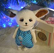 Куклы и игрушки ручной работы. Ярмарка Мастеров - ручная работа Лисёнок фенек игрушка. Handmade.