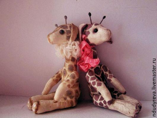 Игрушки животные, ручной работы. Ярмарка Мастеров - ручная работа. Купить Жираф Пятнышко. Handmade. Бежевый, тедди, плюшевый жираф
