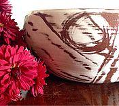 """Для дома и интерьера ручной работы. Ярмарка Мастеров - ручная работа Вазочка """" рисунок на снегу"""". Handmade."""