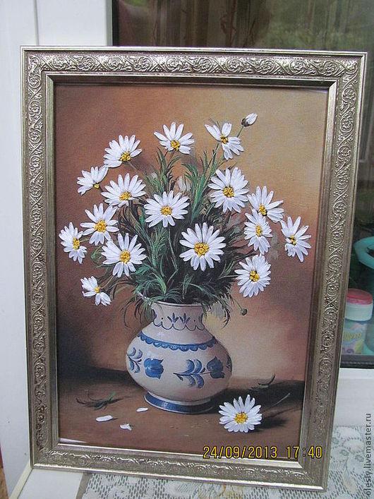 Картины цветов ручной работы. Ярмарка Мастеров - ручная работа. Купить Ромашки. Handmade. Букет из ромашек  подарок