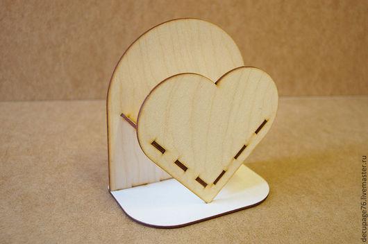 Салфетница `Сердце ` (продается в разобранном виде) Размер: 16х15х10 см Материал: фанера 3 мм