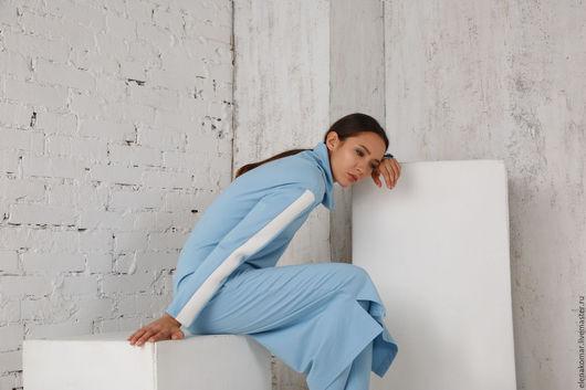 Платья ручной работы. Ярмарка Мастеров - ручная работа. Купить Платье длинное голубое. Handmade. Голубой, платье длинное