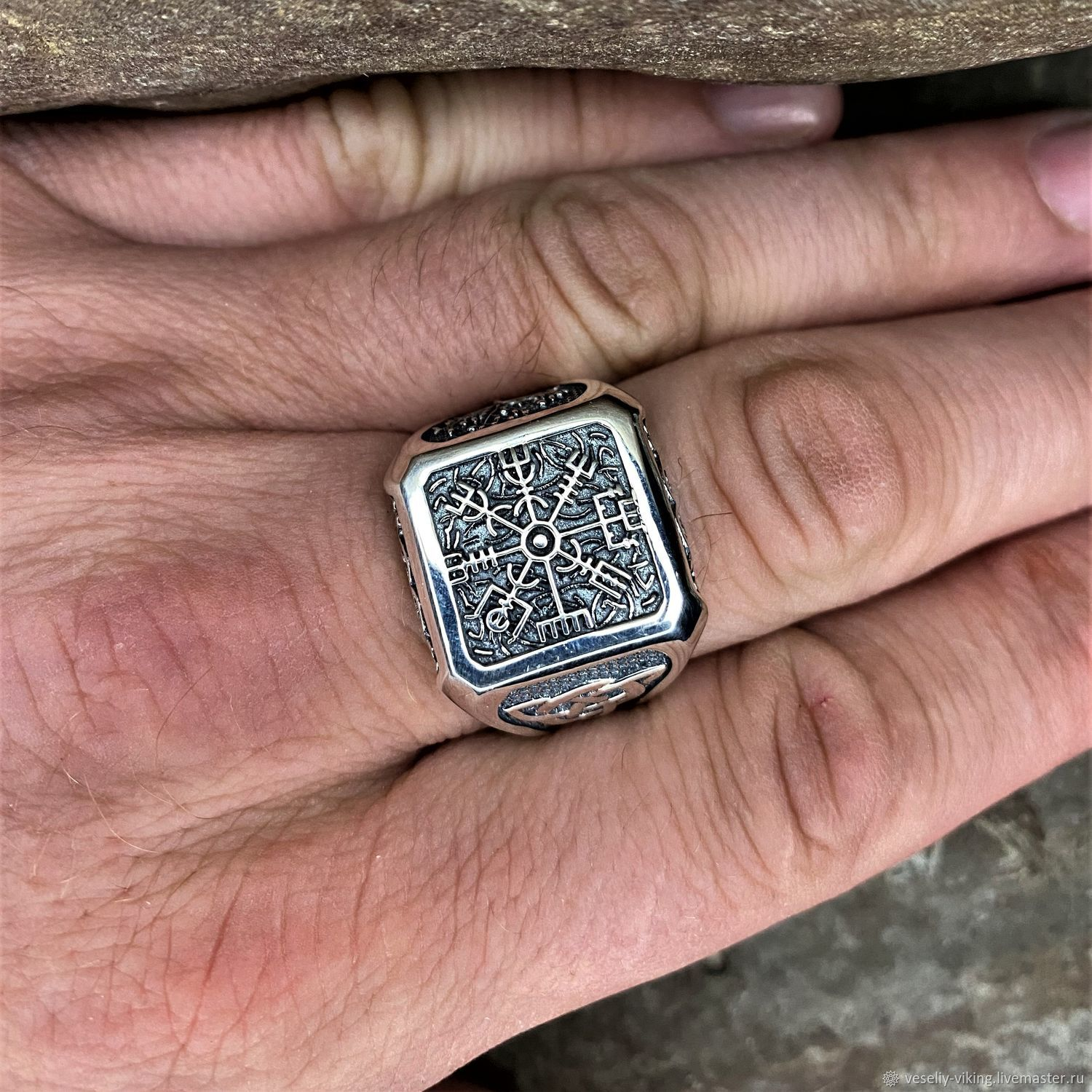 Ring with Vegvisir and Tree of life, Rings, Sochi,  Фото №1