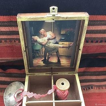"""Для дома и интерьера ручной работы. Ярмарка Мастеров - ручная работа Шкатулка """"Еще не вечер...""""короб для чая, ключница. Handmade."""