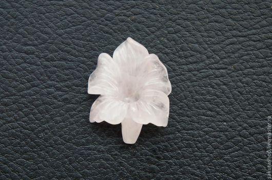 Для украшений ручной работы. Ярмарка Мастеров - ручная работа. Купить Лилия из розового кварца 31х25 мм. Handmade.