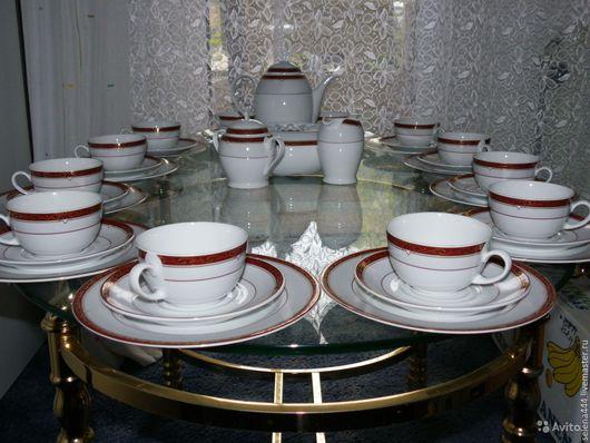 Винтажные предметы интерьера. Ярмарка Мастеров - ручная работа. Купить сервиз чайный Германия. Handmade. Разноцветный, фарфор