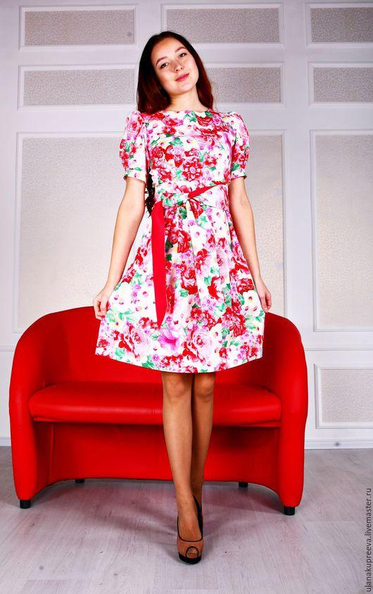 Платье из итальянского хлопка.