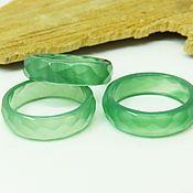 Украшения handmade. Livemaster - original item Green chalcedony ring with 18 R-R cut. Handmade.
