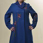 """Одежда ручной работы. Ярмарка Мастеров - ручная работа пальто из лодена """" ирисы"""". Handmade."""
