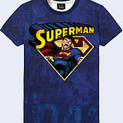 """Одежда ручной работы. Ярмарка Мастеров - ручная работа Мужская футболка """"Супермен"""". Handmade."""