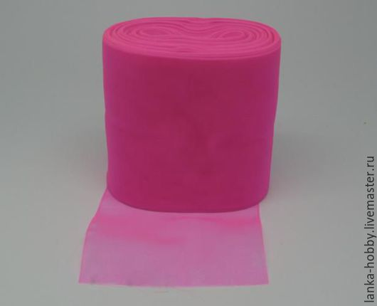 Лента-органза 80 мм. Цвет: Ярко-розовая Цена указана за 1 метр