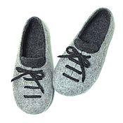 Обувь ручной работы. Ярмарка Мастеров - ручная работа Тапочки-ботинки мужские. Handmade.