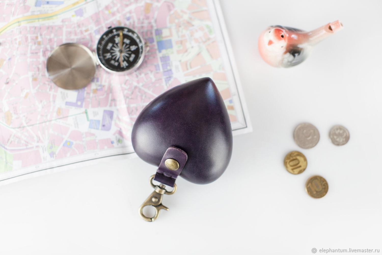 Украшения для сумок ручной работы. Ярмарка Мастеров - ручная работа. Купить Монетница - кошелёк в форме сердца. Handmade. Кошелек
