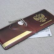 Канцелярские товары handmade. Livemaster - original item ID card cover with space for a personal badge. Handmade.