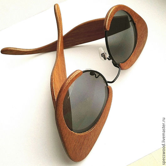 Очки ручной работы. Ярмарка Мастеров - ручная работа. Купить Солнцезащитные очки №302. Handmade. Очки из дерева, махагон