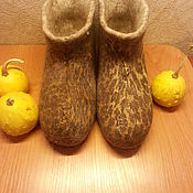 Обувь ручной работы. Ярмарка Мастеров - ручная работа Домашние валенки из верблюжьей шерсти .. Handmade.