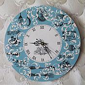 Для дома и интерьера ручной работы. Ярмарка Мастеров - ручная работа Часы настенные Индиго. Handmade.