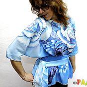 """Одежда ручной работы. Ярмарка Мастеров - ручная работа Блуза """"Фантазия"""" - натуральный шелк, батик. Handmade."""