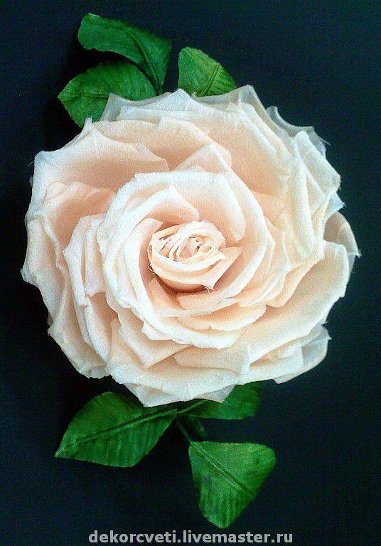 Silk Rose 'Tenderness', Brooches, Izhevsk,  Фото №1
