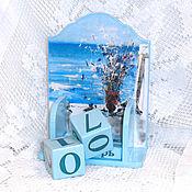 Канцелярские товары handmade. Livemaster - original item Perpetual calendar Sea and flowers. Handmade.