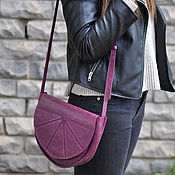 Сумки и аксессуары handmade. Livemaster - original item leather bag geometry. Handmade.