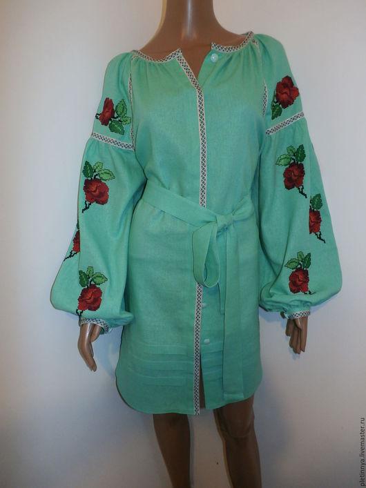 """Платья ручной работы. Ярмарка Мастеров - ручная работа. Купить Платье """" ВОСТОРГ"""". Handmade. Зеленый, бохо"""