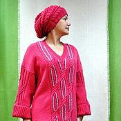 """Одежда ручной работы. Ярмарка Мастеров - ручная работа Платье вязаное цвета""""Азалия"""". Handmade."""
