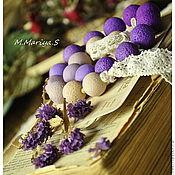 """Украшения ручной работы. Ярмарка Мастеров - ручная работа Бусы и серьги """"Lavender"""". Handmade."""