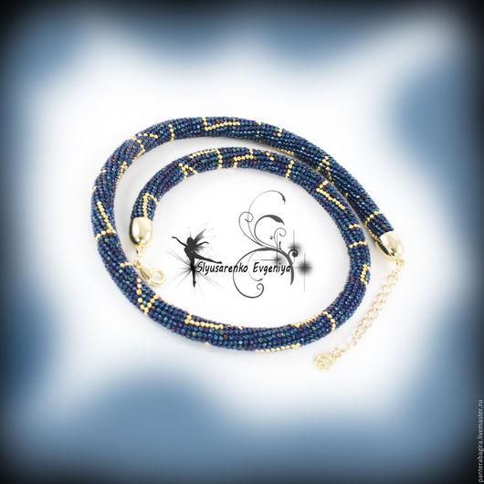 """Колье, бусы ручной работы. Ярмарка Мастеров - ручная работа. Купить Жгут из бисера золото """"Стиль в золоте"""" колье ожерелье украшение на шею. Handmade."""