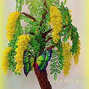 Цветы и флористика handmade. Livemaster - original item Mimosa beaded.. Handmade.