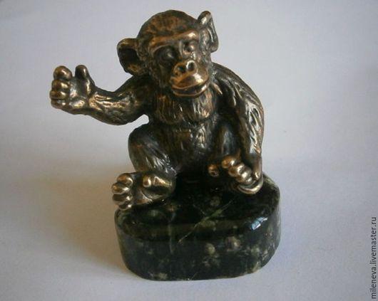 Миниатюрные модели ручной работы. Ярмарка Мастеров - ручная работа. Купить Обезьянка ( шимпанзе). Handmade. Обезьянка, бронза