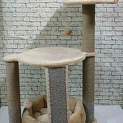 Когтеточки ручной работы. Ярмарка Мастеров - ручная работа Когтеточка для кошек ( подходит для крупных пород) Орхидея XL. Handmade.
