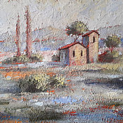 Картины и панно handmade. Livemaster - original item Relief painting Landscape of Provence. Handmade.