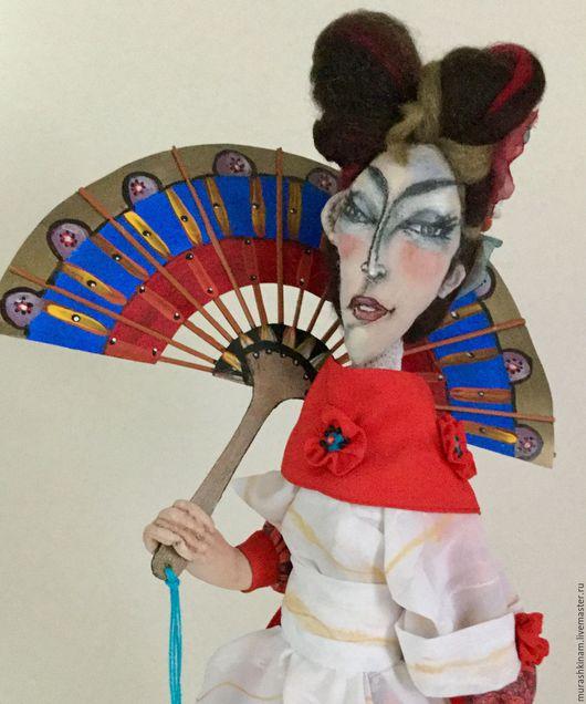 САКУРА ЯПОНСКАЯ. Интерьерная текстильная кукла купить в подарок