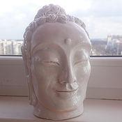 Для дома и интерьера ручной работы. Ярмарка Мастеров - ручная работа Статуэтка из гипса. Голова Будды. Handmade.