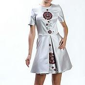 """Одежда ручной работы. Ярмарка Мастеров - ручная работа Платье """"Красный цветок"""" шелковое 999#Скидка 50 %. Handmade."""