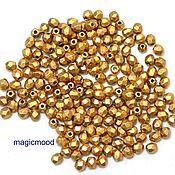 Материалы для творчества handmade. Livemaster - original item 20 PCs 3 mm K0171JT Fire Polished Czech beads matte metallic flax. Handmade.