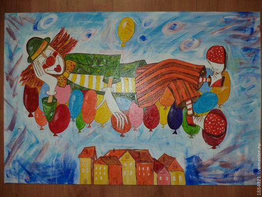 Символизм ручной работы. Ярмарка Мастеров - ручная работа. Купить Клоун на воздушных шариках. Handmade. Клоун, воздушные шары, шарики